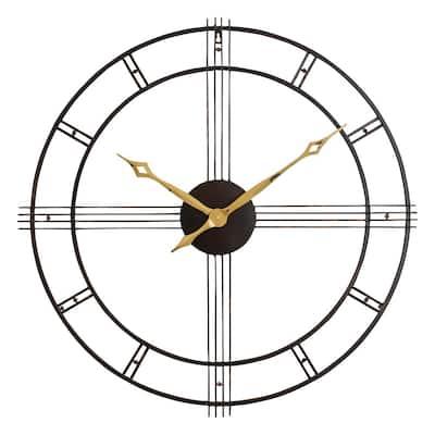 Rumi Brown Mid Century Wall Clock