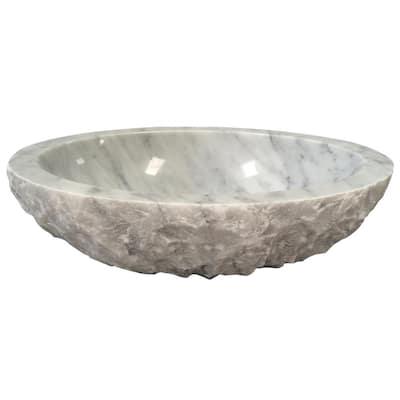 Bonette Carrara Marble Vessel Sink
