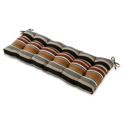 51 in. x 18 in. Brick Stripe Rectangle Outdoor Bench Cushion