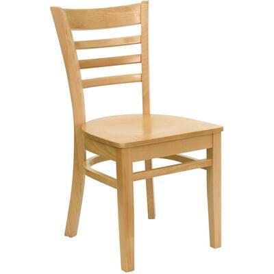 Hercules Natural Wood Seat/Natural Wood Frame Side Chair