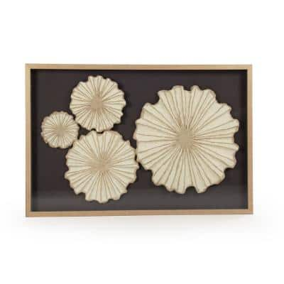 Abstract Floral Paper Wall Art