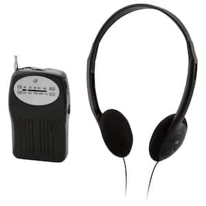 Portable AM/FM Radio with Headphones