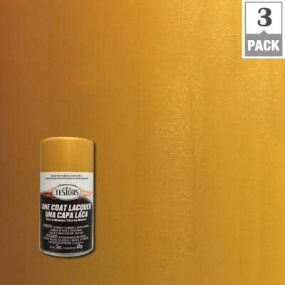 3 oz. Inca Gold Lacquer Spray Paint (3-Pack)