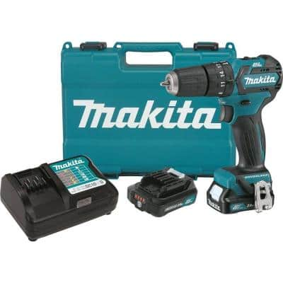 12-Volt Max CXT Lithium-Ion 3/8 in. Brushless Cordless Hammer Driver-Drill Kit w/ (2) Batteries(2Ah), Charger, Hard Case