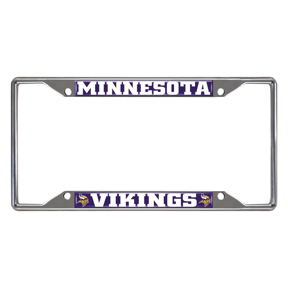 NFL - Minnesota Vikings Chromed Stainless Steel License Plate Frame