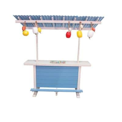 1 Particular Harbour Surf Shack Wood Outdoor Bar with Roof, Bottle Opener and Shelving