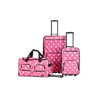 Expandable Spectra 3-Piece Softside Luggage Set, Pinkdot