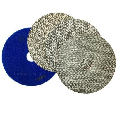 7 in. Electroplated Diamond Polishing Pads (Set of 4)
