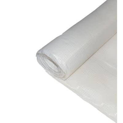10 ft. x 100 ft. Fire Retardant Woven Reinforced Plastic Sheeting Great for Vapor Barrier, Crawl Space Under Floor