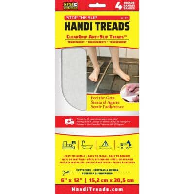 Handi Treads 6 in. x 12 in. ClearGrip Adhesive Treads (4-Pack)