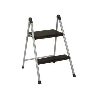 2-Step Steel Step Ladder Stool without Handle