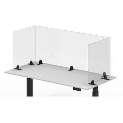 Luxor Acrylic Sneeze Guard Freestanding Desk Divider 24 x 30, Clear