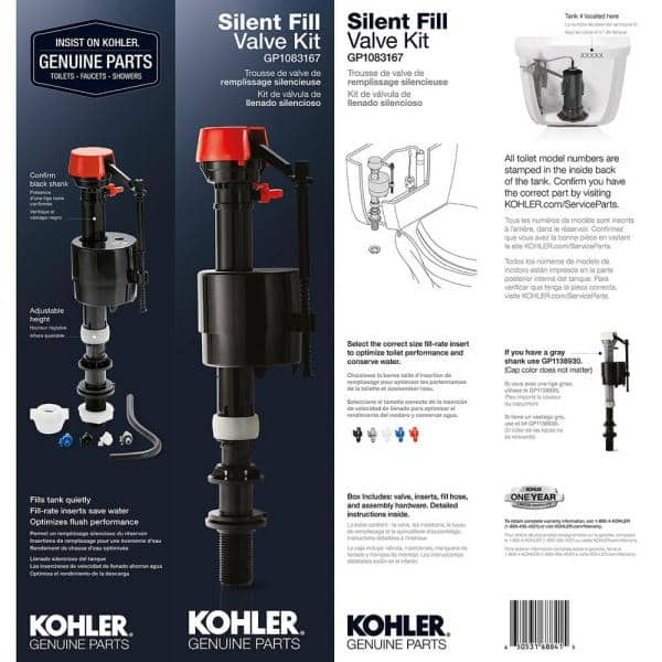Details about  /Genuine Part Gp1083167 Silent Fill Valve Kit For All Kohler Class Five Toilet