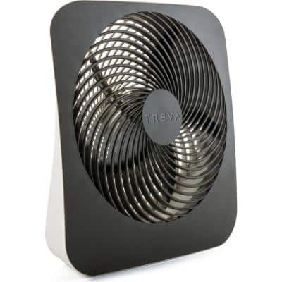 10 in. 2-Speed Portable Battery Operated Desk Fan with AC Adapter Included