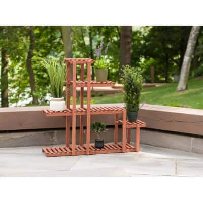 Wooden Multi-Tier Plant Stand