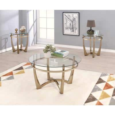 Amelia Champagne Uniquely Styled End Table