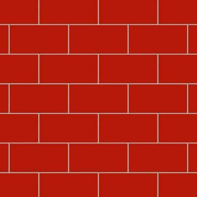 Projectos Bold Red 4 in. x 8 in.. Ceramic Subway Floor and Wall Tile (11.46 sq. ft. / case)