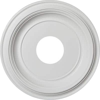 """1-1/4 in. P X 13 in. OD X 3-1/2 in. ID Traditional Thermoformed PVC Ceiling Medallion (Fits Canopies up to 7 1/2"""")"""