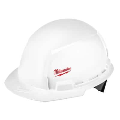 BOLT White Type 1 Class E Front Brim Hard Hat with Small Logo