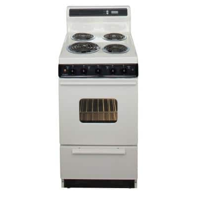 20 in. 2.42 cu. ft. Electric Range in Biscuit