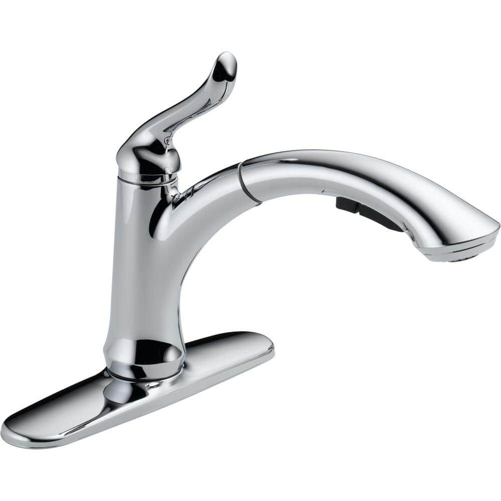 linden single handle pull-out kitchen faucet
