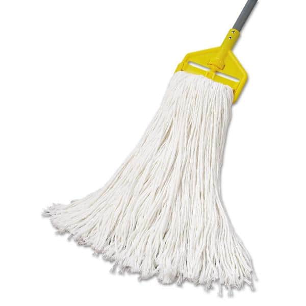 Boardwalk Rayon Fiber Premium Standard String Mop Mop Head 32 Oz White 12 Carton Bwk232r The Home Depot