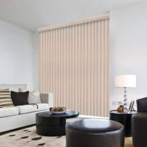 Rustic White Room Darkening Vertical Blind for Sliding Door or Window - Louver Size 3.5 in. W x 84 in. L(9-Pack)