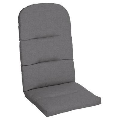 20.5 x 49 Sunbrella Cast Slate Outdoor Adirondack Chair Cushion