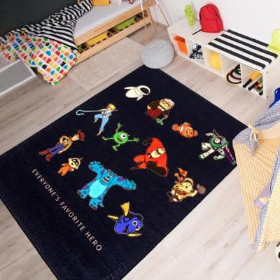 Pixar Heroes Multi-Colored 5 ft. x 7 ft. Indoor Polyester Area Rug