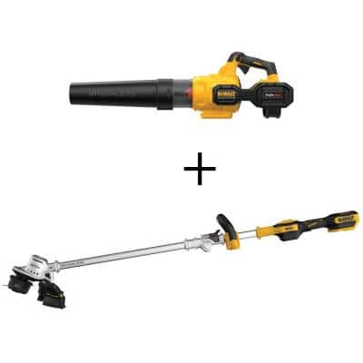 125 MPH 600 CFM FLEXVOLT 60V MAX Lithium-Ion Cordless Axial Blower(Tool Only) w/20V Brushless String Trimmer(Tool Only)