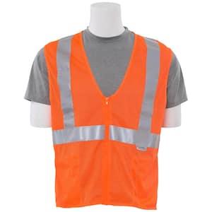 S15Z XL Hi Viz Orange Poly Mesh Safety Vest