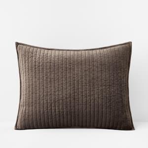 Legends Luxury Harmony Velvet Taupe Cotton Blend Standard Sham