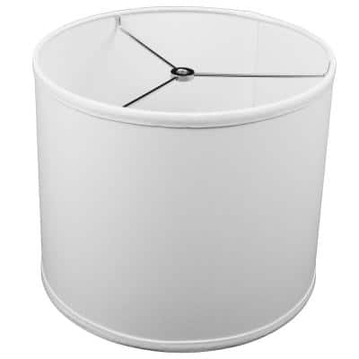 12 in. Top Diameter x 10 in. H x 12 in. Bottom Diameter Linen White Drum Lamp Shade