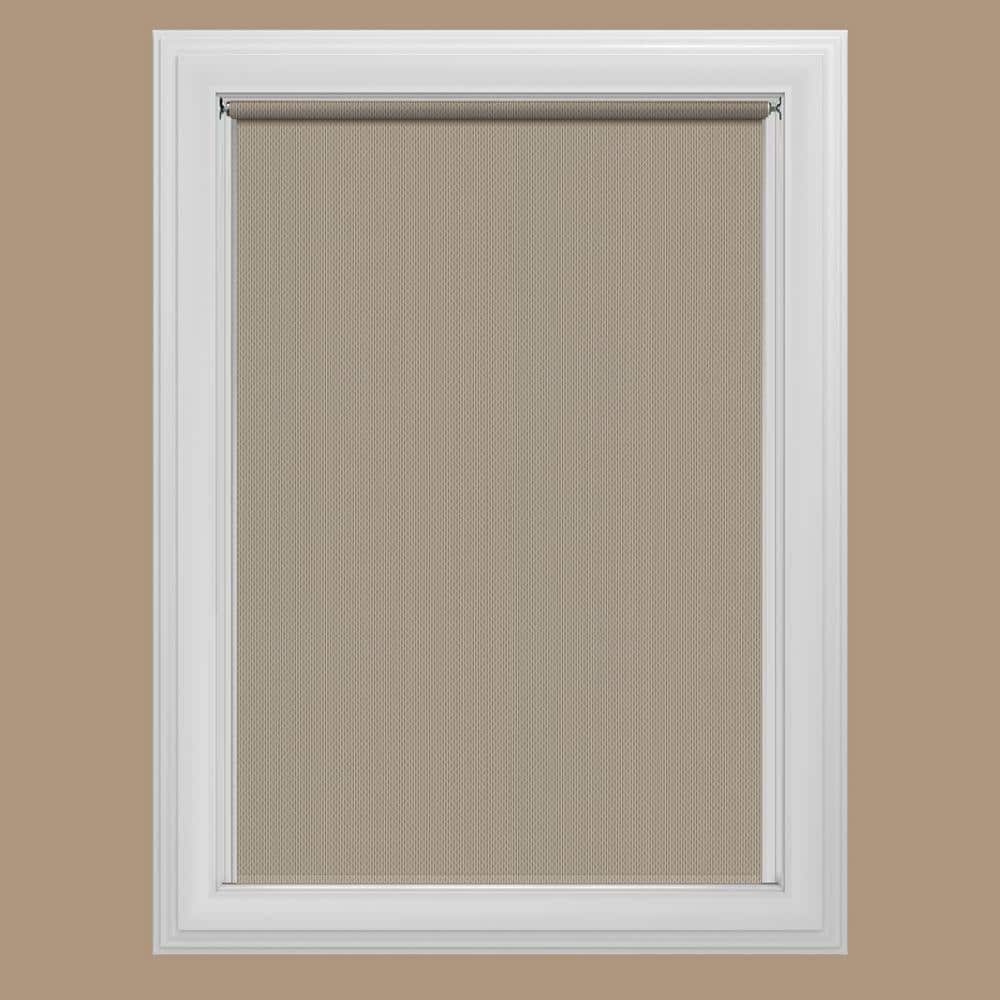 Bali Cut To Size Cut To Size Woven Taupe Cordless Room Darkening Fade Resistant Roller Shades 35 25 In W X 72 In L 37 8102 22 The Home Depot