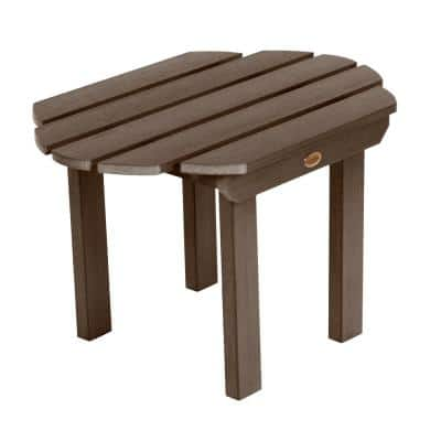 Classic Westport Weathered Acorn Rectangular Recycled Plastic Outdoor Side Table