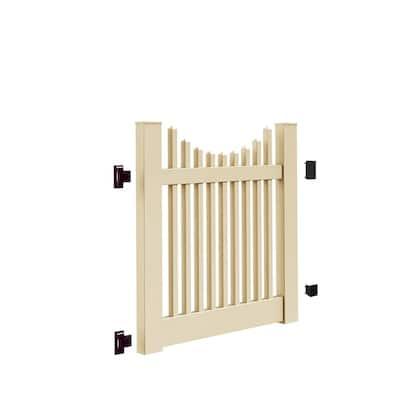 Yukon Scallop 4 ft. W x 4 ft. H Sand Vinyl Un-Assembled Fence Gate