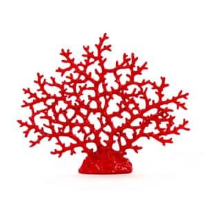 Glazed Red Polyresin Coral