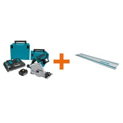 18-Volt X2 LXT Lithium-Ion (36V) Brushless 6-1/2 in. Plunge Circular Saw Kit 5.0Ah with bonus 39 in. Metal Guide Rail