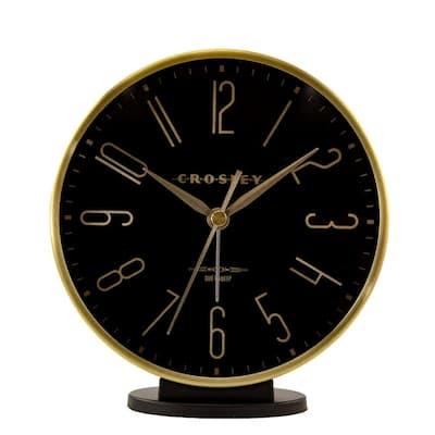 37021B- Modern Black and Gold Alarm
