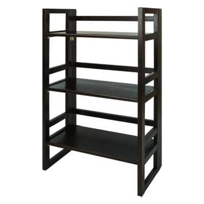 37 in. Natural New Wood 3- -Shelf Etagere Bookcase with Open Back