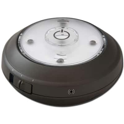 0.35-Watt LED Puck Light with Light Sensor - Grey
