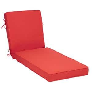 22 in. x 25 in. Oceantex Canvas Vibrant Reef Outdoor Chaise Lounge Cushion