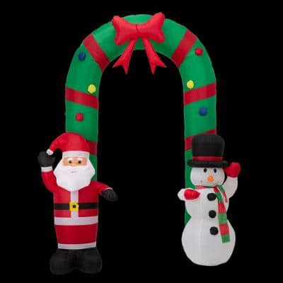 8 ft. Inflatable Santa Snowman Gate Arch