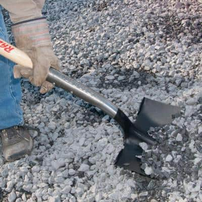 23.5 in. Wood D-Handle Square Point Shovel