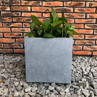 Large 15.7 in. x 15.7 in. x 15.7 in. Cement Lightweight Concrete Modern Square Planter