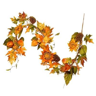 Harvest Accessories 6 ft. Sunflower Garland