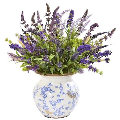 Lavender Artificial Arrangement in Floral Vase