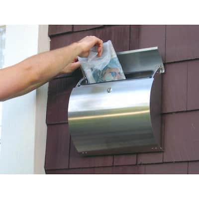 Spira Stainless Steel Wall Mount Locking Mailbox