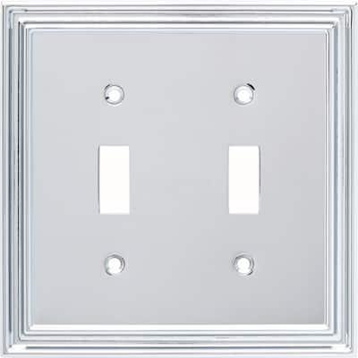 Chrome 2-Gang Toggle Wall Plate (1-Pack)