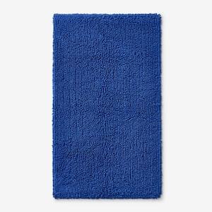 Company Cotton Chunky Loop Royal Blue 17 in. x 24 in. Bath Rug
